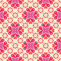 Retro Floral Pattern SEAMLESS Royalty Free Stock Image
