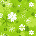 Retro floral pattern, seamless, vector  Stock Images