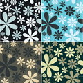 Retro Floral Pattern Set Stock Images