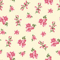 Retro floral seamless Stock Image