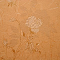 Retro floral wallpaper in golden design Royalty Free Stock Photo