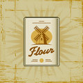 Retro Flour Pack Stock Photo