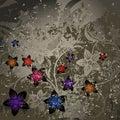 Retro a flower Royalty Free Stock Photos