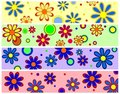 Retro Flower Banners Royalty Free Stock Photo