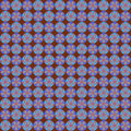 Retro flower on chocolate seamless pattern soft light and dark blue rosette set against a background Royalty Free Stock Image