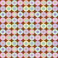 Retro flower on chocolate seamless pattern soft multicolored rosette set against a background Royalty Free Stock Photos