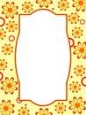 Retro Flower Frame Royalty Free Stock Photo