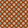 Retro flower pattern Royalty Free Stock Images