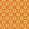 Retro flower pattern Royalty Free Stock Photography