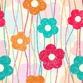 Retro flower pattern vector illustration Royalty Free Stock Photos