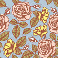 Retro flower seamless pattern Royalty Free Stock Image