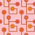 Retro Flower Seamless Wallpaper Stock Images