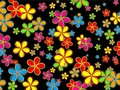 Retro Flower Wallpaper Design Royalty Free Stock Photo