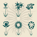 Retro flowers Royalty Free Stock Photos