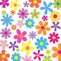 Retro flowers Stock Image