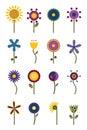 Retro Flowers Royalty Free Stock Photo