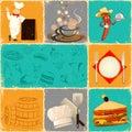 Retro Food Collage Royalty Free Stock Photo