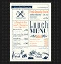 Retro Frame restaurant lunch menu design