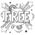 Retro free sketch Royalty Free Stock Images