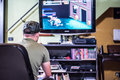 Retro Gamer In Front Of The TV