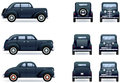 Retro gangster car Royalty Free Stock Images