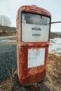 Retro gasoline pump Royalty Free Stock Photo