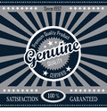 Retro genuine quality product banner illustration of with design Royalty Free Stock Photos