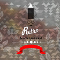 Retro Geometric Background Royalty Free Stock Photos