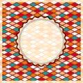 Retro Geometric Rhombus Card