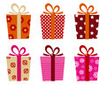 Retro gifts set Royalty Free Stock Images
