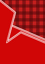 Retro gingham design background illustration in partial partial in shades of red and white copy space available Stock Photo