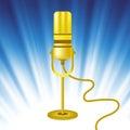 Retro Gold Microphone Icon Royalty Free Stock Photo
