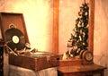 Retro gramophone Royalty Free Stock Photo