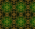 Retro green wallpaper. Seamless Stock Photo