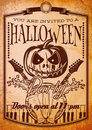 Retro grunge poster for halloween party Royalty Free Stock Photo