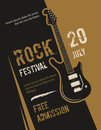 Retro grunge rock and roll, heavy metal, music festival vector poster design Royalty Free Stock Photo