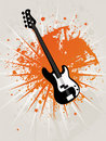 Retro Grunge Star Guitar Stock Images