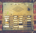 Retro Grungy Apartment Buzzer System Royalty Free Stock Photo