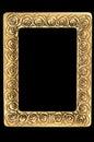 Retro guld- foto för ram Fotografering för Bildbyråer
