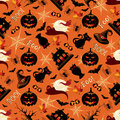 Retro Halloween Background Seamless Pattern Royalty Free Stock Photo