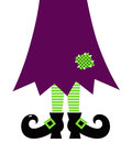 Retro halloween witch legs stylized vector illustration Royalty Free Stock Image