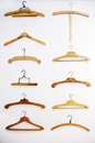 Retro hangers background Royalty Free Stock Photos