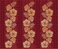 Retro Hawaiian pattern Royalty Free Stock Photo