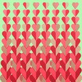 Retro heart geometric pattern with halftone effect