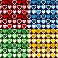 Retro Heart Pattern