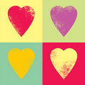 Retro hearts background Royalty Free Stock Image