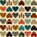Retro hearts pattern Stock Photography
