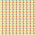 Retro hearts, seamless pattern Stock Images