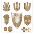 Retro heraldic elements set of for design Royalty Free Stock Images