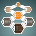 Retro hexagon infographics stock Royalty Free Stock Photography